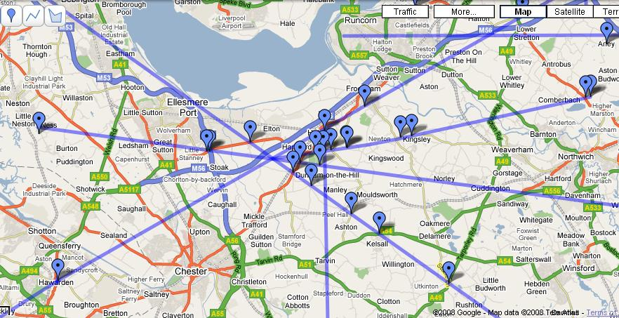Google Maps A Leyhunters Tool The Hedge Druid - Us-ley-lines-map